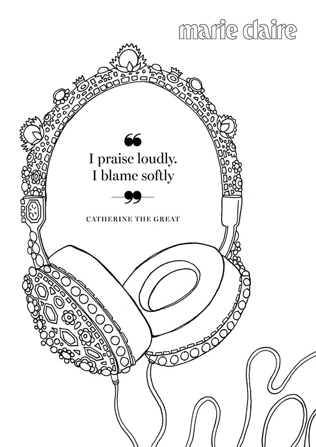 motivational messages from inspiring women through the ages this book is a must have for any fashionista looking to colour their way to calm - Colour In Book